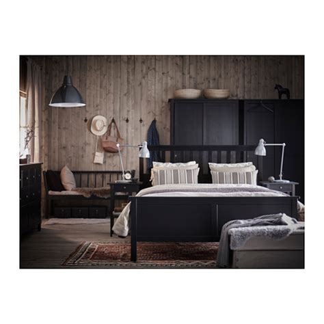 hemnes bed hemnes bed frame black brown lur 246 y standard double ikea