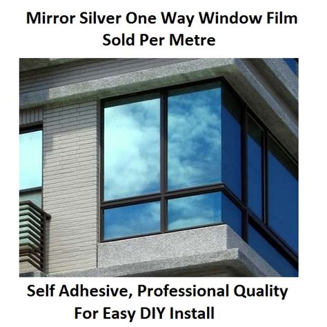 Reflektierende Folie Auto Erlaubt by Silver Solar Reflective One Way Mirror Window Tint 80