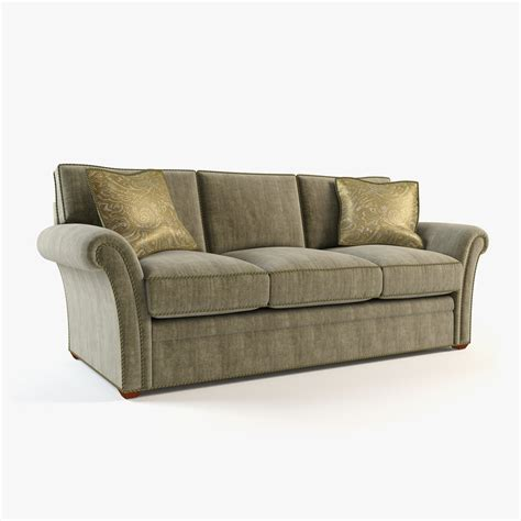 model on couch couch sofa 3d model