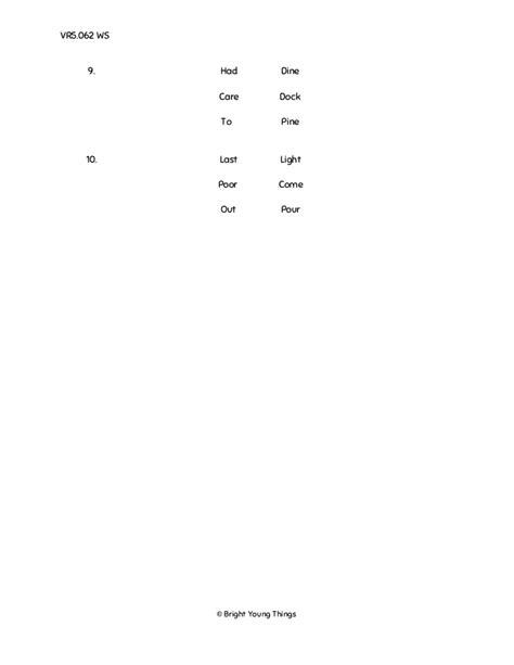 Bright Young Things - Verbal Reasoning Sample Paper