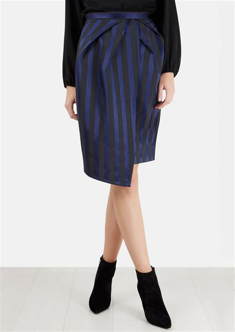 Navy Stripes Skirt compare navy striped pleated wrap pencil skirt deals