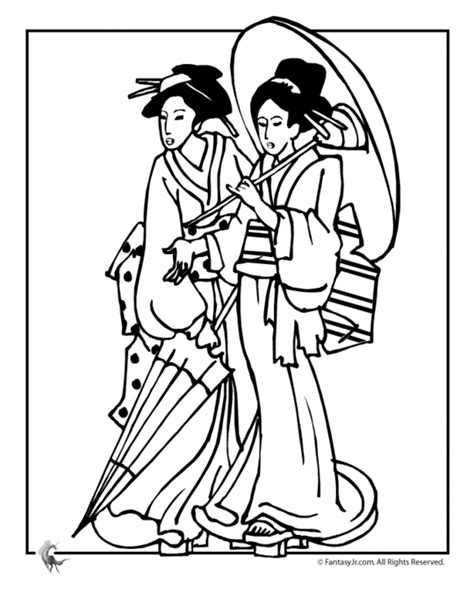 Geisha Coloring Coloring Pages Geisha Coloring Pages