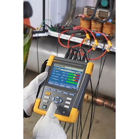 fluke 438 ii three phase power quality and motor analyzer with iflex probes at the test