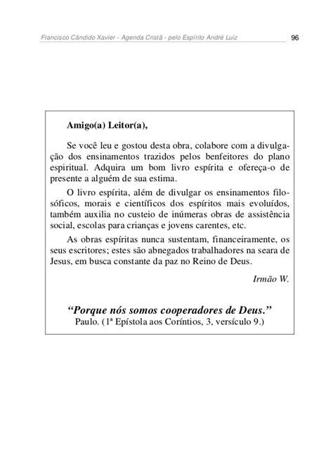 Chico xavier livro 032 - ano 1948 - agenda crista