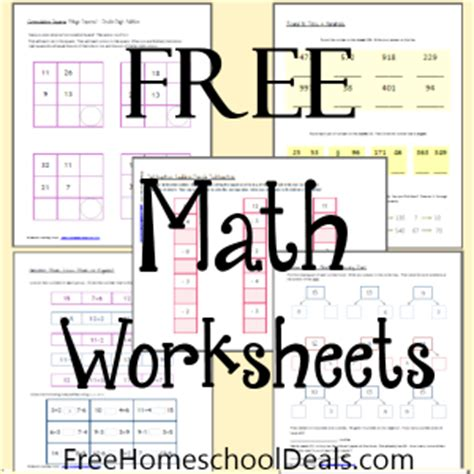 Pre Mba Math Review by Free Homeschool Math Worksheets Worksheets For All