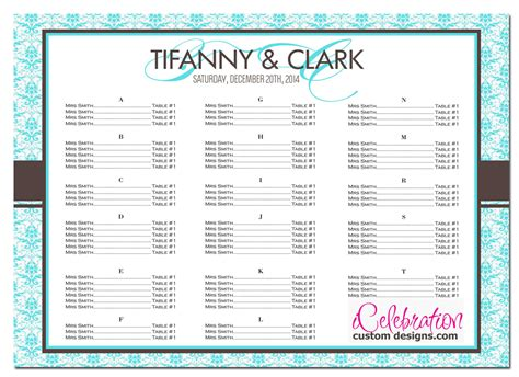 Wedding Chart Template wedding seating chart template