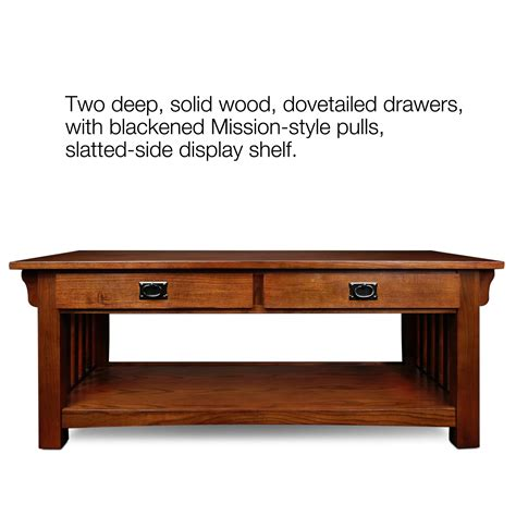 How To Refinish A Dining Room Table by Amazon Com Leick Furniture Mission 2 Drawer Coffee Table