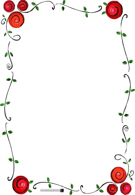 printable borders with flowers printable borders clipart best