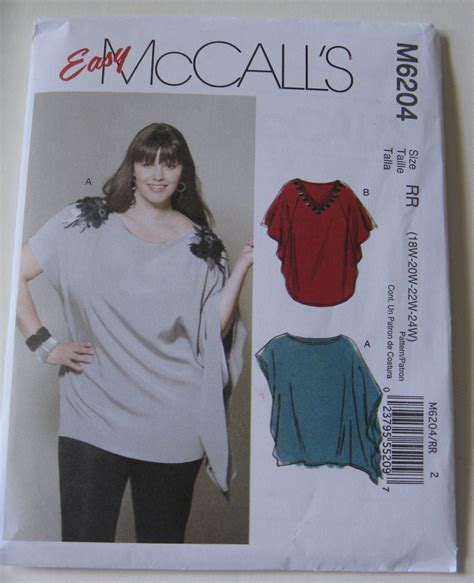 sewing pattern plus size easy mccall s sewing pattern m6204 women s plus size