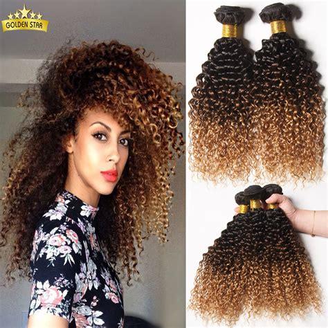 short kinky colored hair mongolian kinky curly hair ombre kinky curly hair weave