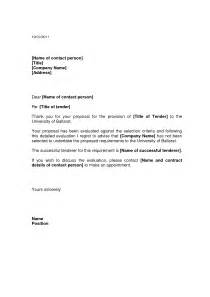 Award Letter To Successful Bidder Best Photos Of Sle Regret Letter For Rfp Business Regret Letter Sle Letter Of Intent