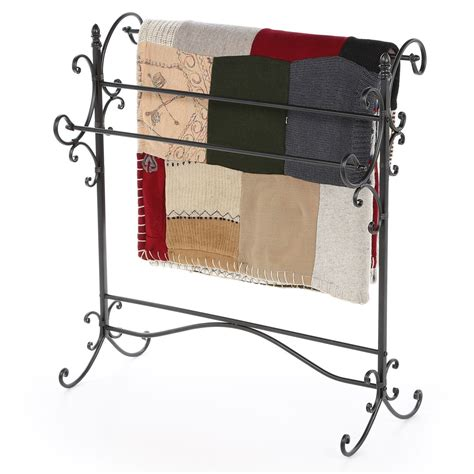 Wrought Iron Quilt Rack by Iron Quilt Rack Vintage Wrought Display Stand Hanger