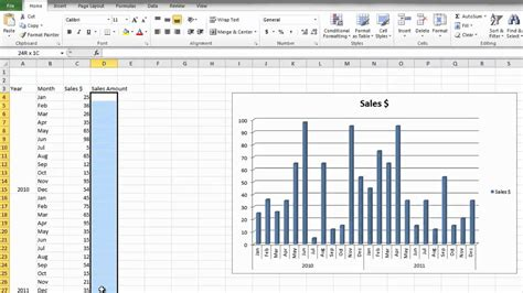 How To Make Graph Paper In Excel 2010 - how to make a bar graph in microsoft excel 2010 for