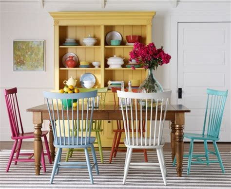 colorful dining room chairs 20 reasons to update your furniture with paint brit co