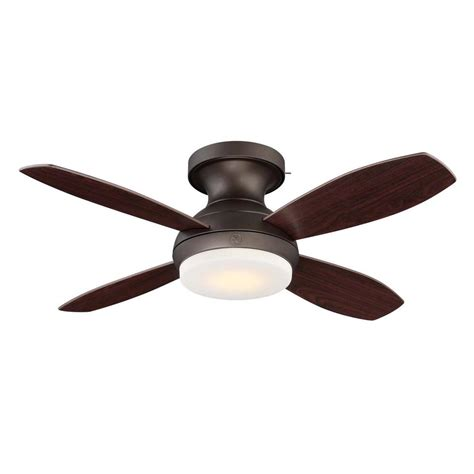 bronze ceiling fan ge kinsey 44 in led indoor bronze ceiling fan with