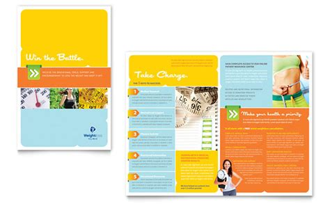 brochure publisher templates free weight loss clinic brochure template design