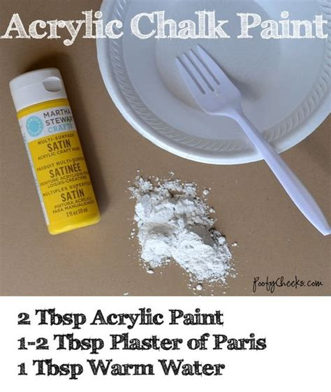 chalk paint recipe using plaster of chalk paint recipes acrylics and paint on