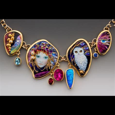 enamel jewelry mona and alex szabados enamel jewelry enamel enamel