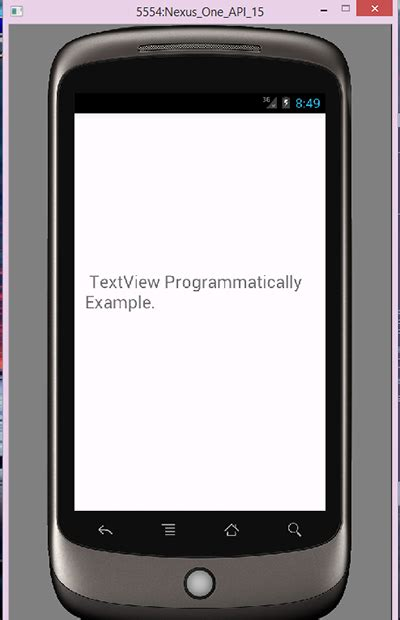 android design layout programmatically android create textview programmatically exle android