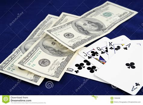 Gift Card With Money - playing cards with money royalty free stock photos image 7395008