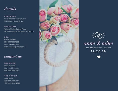 Wedding Flowers Brochure by Wedding Brochure Templates Canva