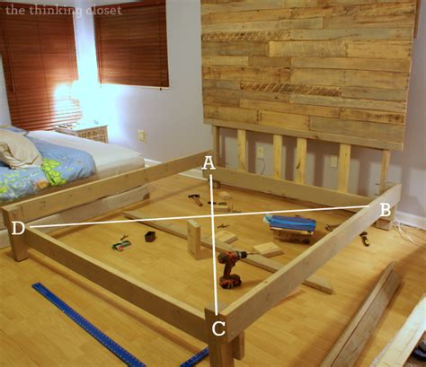 Building A Bed Frame How To Build A Custom King Size Bed Frame The Thinking Closet