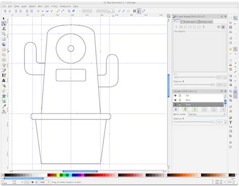 inkscape tutorial technical drawing fiore basile fabacademy 2014