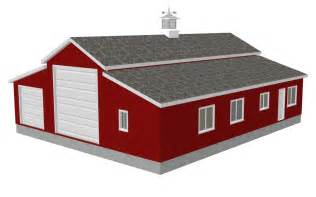 pole barn shop plans sdsg450 60 x 50 10 rv workshop apartment barn plans