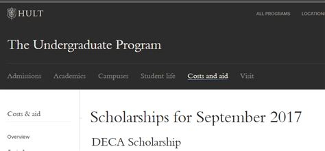 Of Delware Mba Scholarship Program by Hult International Business School Deca Scholarship Dubai