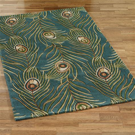 Peacock Bathroom Rug with Peacock Bathroom Accessories