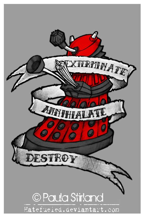 red dalek by hatefueled on deviantart