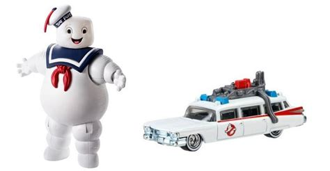 Metal Diecast Stay Puff ghostbusters stay puff marshmallow and ecto 1 diecast vehicle two items