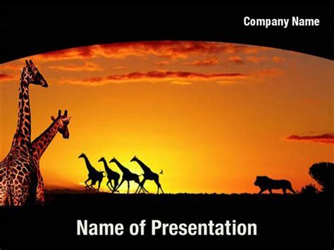 african powerpoint template animals of africa illustration vector
