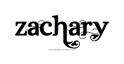 tattoo of name zach zachary name tattoo designs