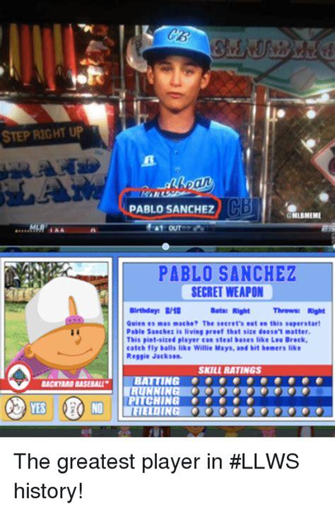 pablo sanchez backyard baseball backyard baseball pete wheeler titus s sweet 16 mailbag