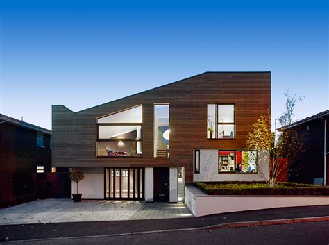 house with studio modern and warm home with external cladding by stephenson
