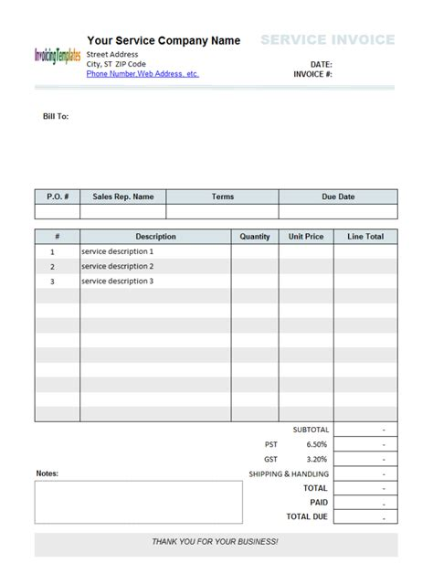 exle of invoices templates blank sle invoice template memes