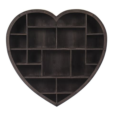 Wall Unit Storage by Wooden Heart Shelf Unit