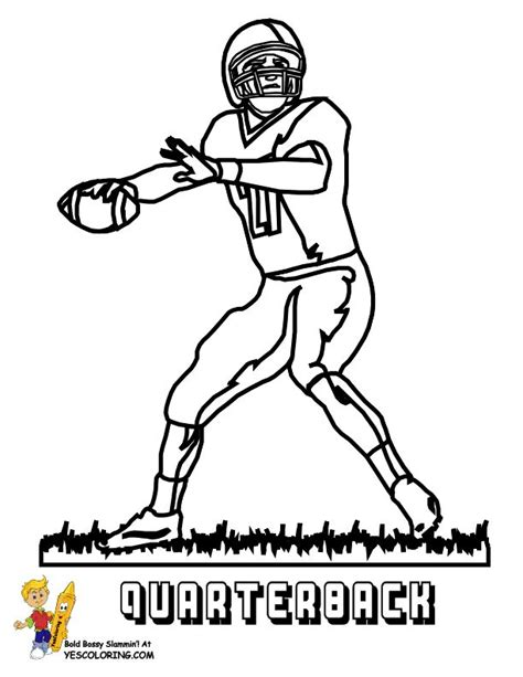 nfl quarterback coloring pages 37 best images about fearless free football coloring pages