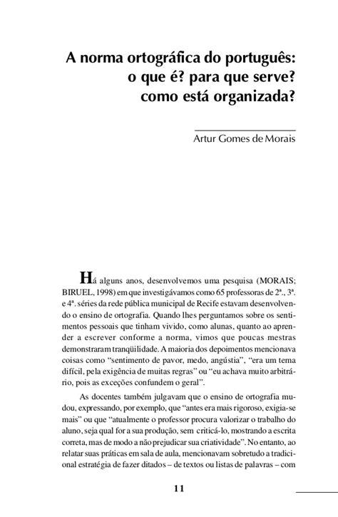 Livro sobre ortografia artur gomes de morais