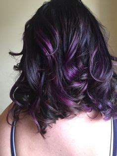 chocolate hair in hattiesburg balayage ombre with purple wild orchid by paige farver