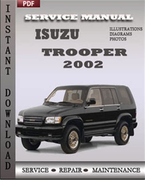manual repair autos 2002 isuzu trooper on board diagnostic system isuzu trooper 2002 service repair manual instant download