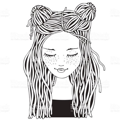 coloring pages for girl adults cute girl coloring book page for adult and children black