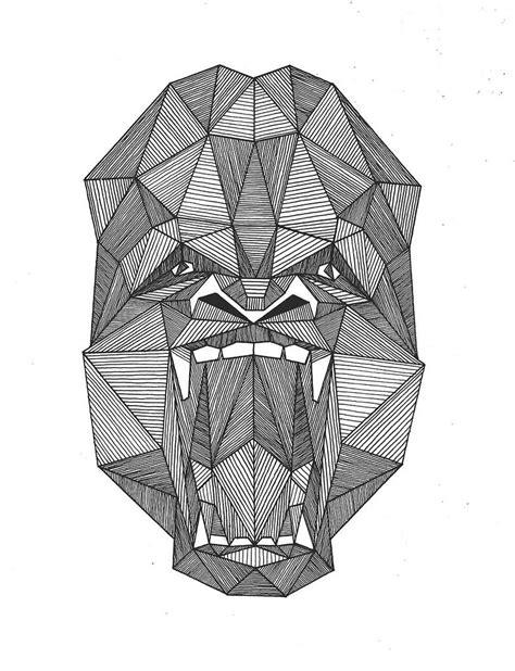 geometric gorilla tattoo 13 outstanding gorilla tattoo designs and ideas