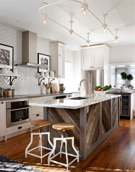 Distressed Kitchen Islands Reclaimed Wood Kitchen Rustic With Stainless Steel Island
