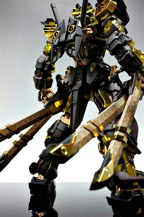 Gundam Wings Black Silver black gold astray gundam gundam plamo black gold gundam and gold