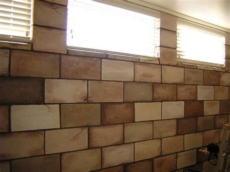 accessories archaic image of light brown brick pattern painting cinder block walls as