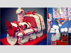 How to Make an Adorable Choo Choo Train Diaper Cake - Baby ... Ideas For Decorating A Cake For Christmas