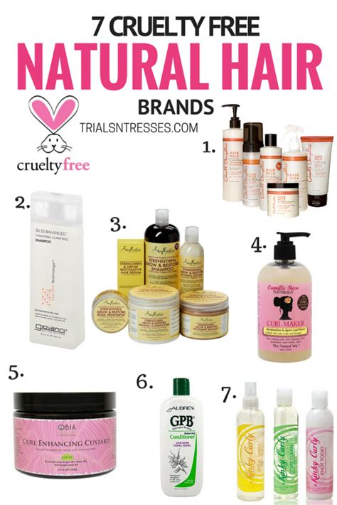 what are some name brands use for hair twist 7 cruelty free natural hair brands trials n tresses