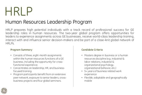 Ge Rotational Program Mba by Ge India Leadership Programs